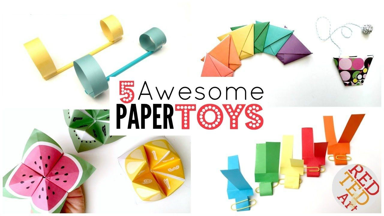 5 Paper Toy Diys 5 Minute Crafts Things To Do When Bored Are