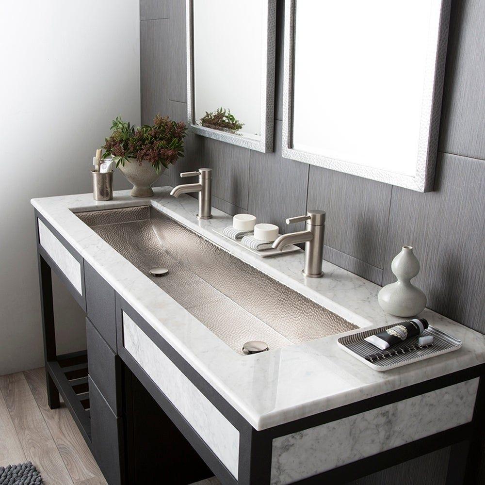 Dwellings Design Group Exclusive Showhouse Preview Large Bathroom Sink Trendy Bathroom Trough Sink Bathroom
