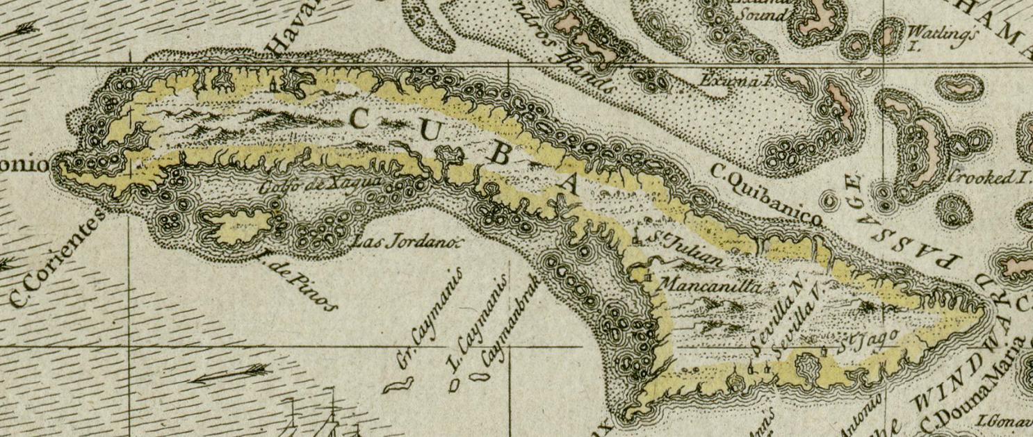 Kuba Um 1680 Von Einem Britischen Kartographen With Images Map Of Cuba Cuba Darlington