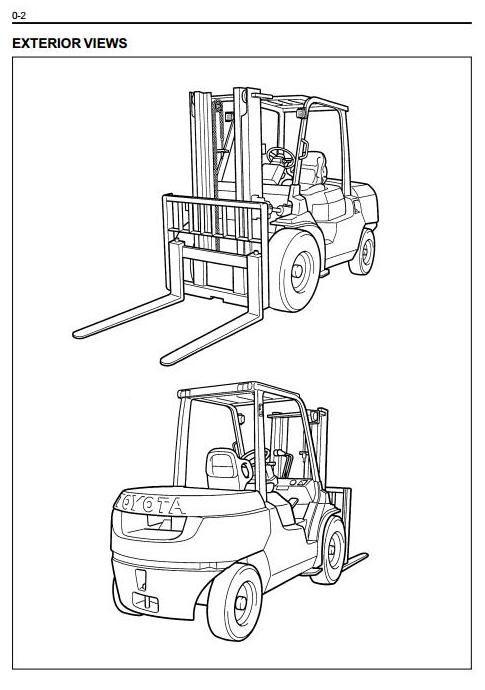 Toyota Lpg Forklift Truck 7fg35 7fg40 7fg45 7fgk40 7fga50