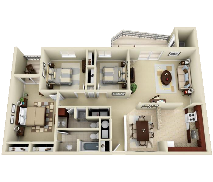 Luxury 1 2 And 3 Bedroom Apartments In Indianapolis In