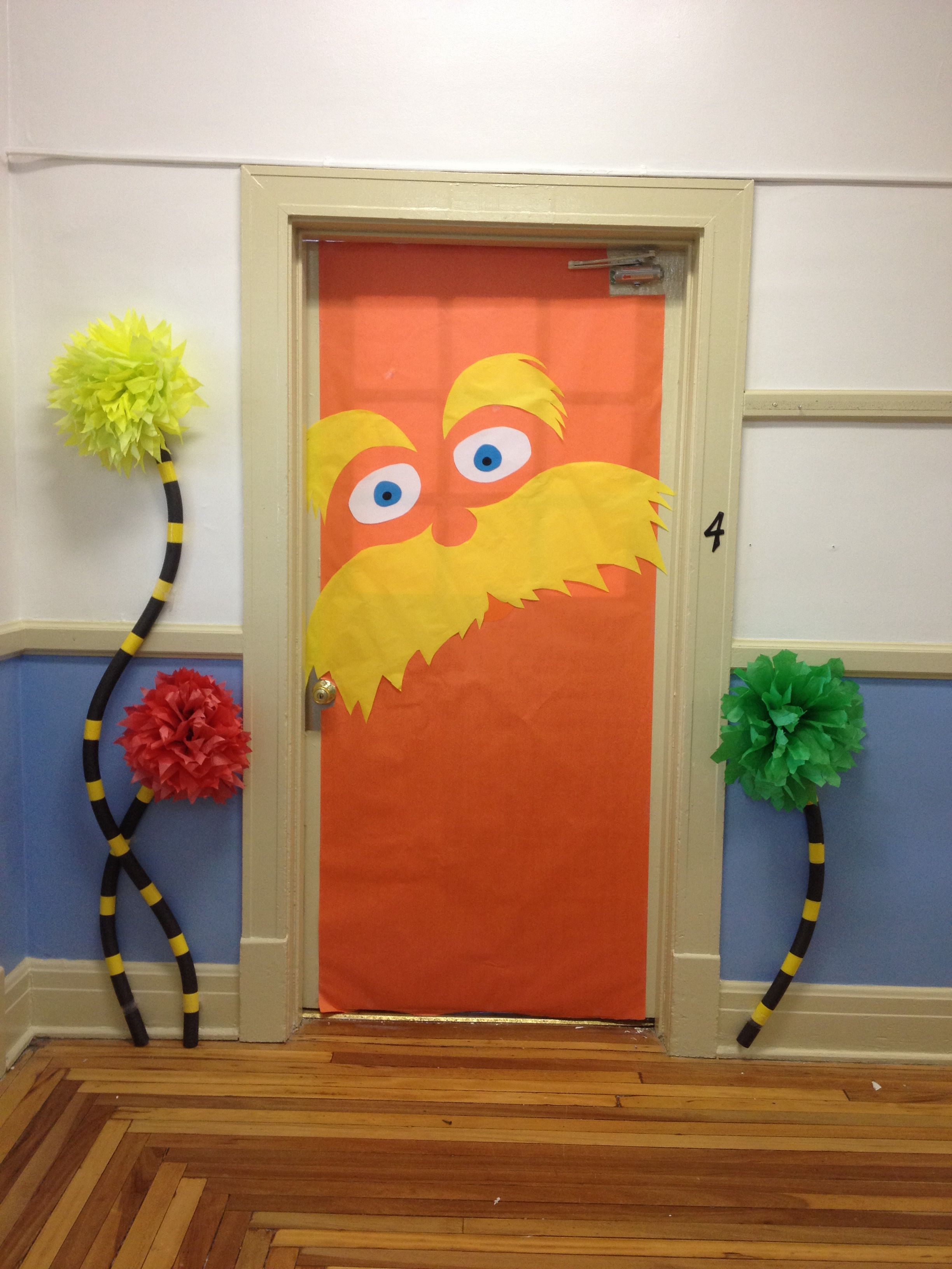Decorating the classroom door for the kiddos to get excited about