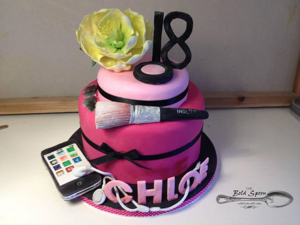 Girly 18th Birthday Cake 18th Birthday Cake Fab Cakes Party Cakes