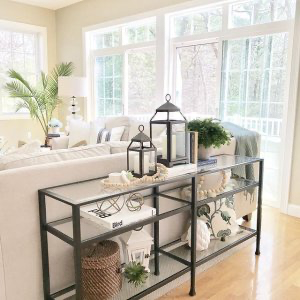 Tanner Long Console Table In 2020 With Images Sofa Table Decor Console Table Decorating Long Sofa Table