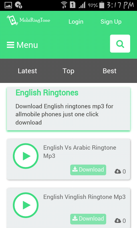 Download English ringtones mp3 for allmobile phones just one