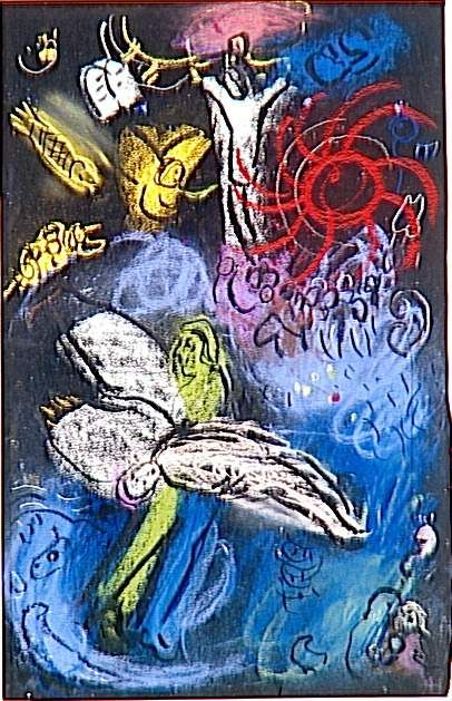 Marc Chagall - (1958) - 'The Creation of Man'