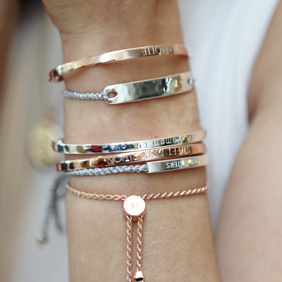 63ff011968d8 Stack and style metallic bracelets from our Havana