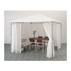 KARLSÖ Partytent met gordijnen Wit 300x300 cm | Steel frame, Small ...