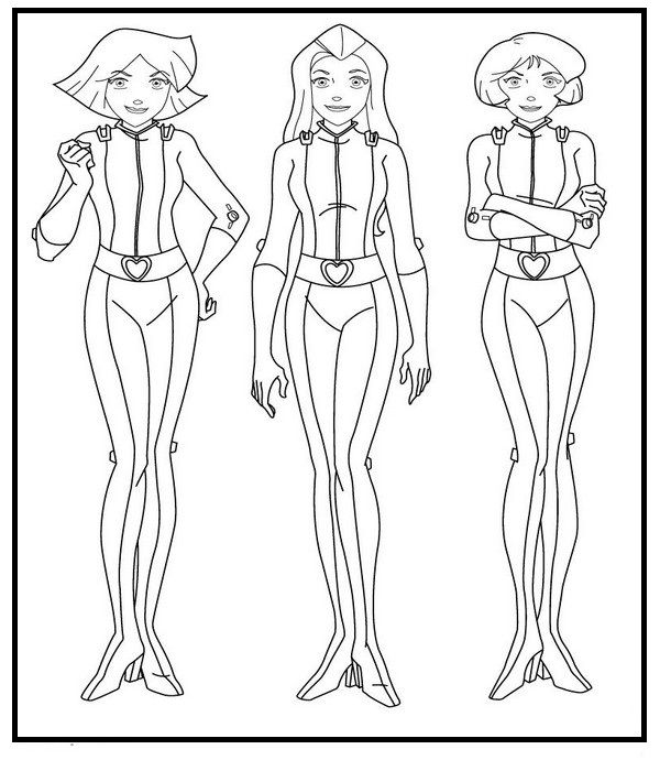 Totally Spies Hero Coloring Pages For Kids Gi7 Printable Totally Spies Coloring Pages For Kids Totally Spies Coloring Pages Coloring Pictures For Kids