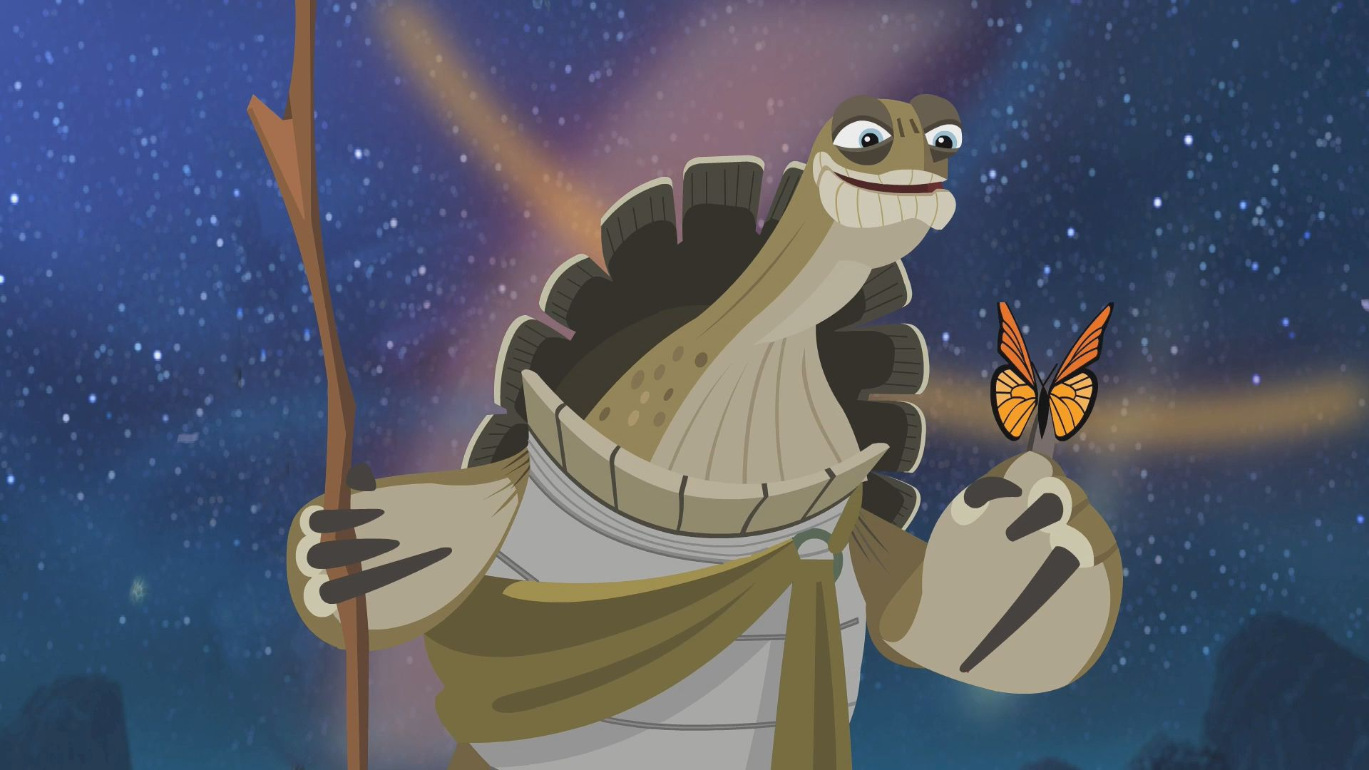 Master Oogway and the butterfly | Kung fu panda, Kung fu ...