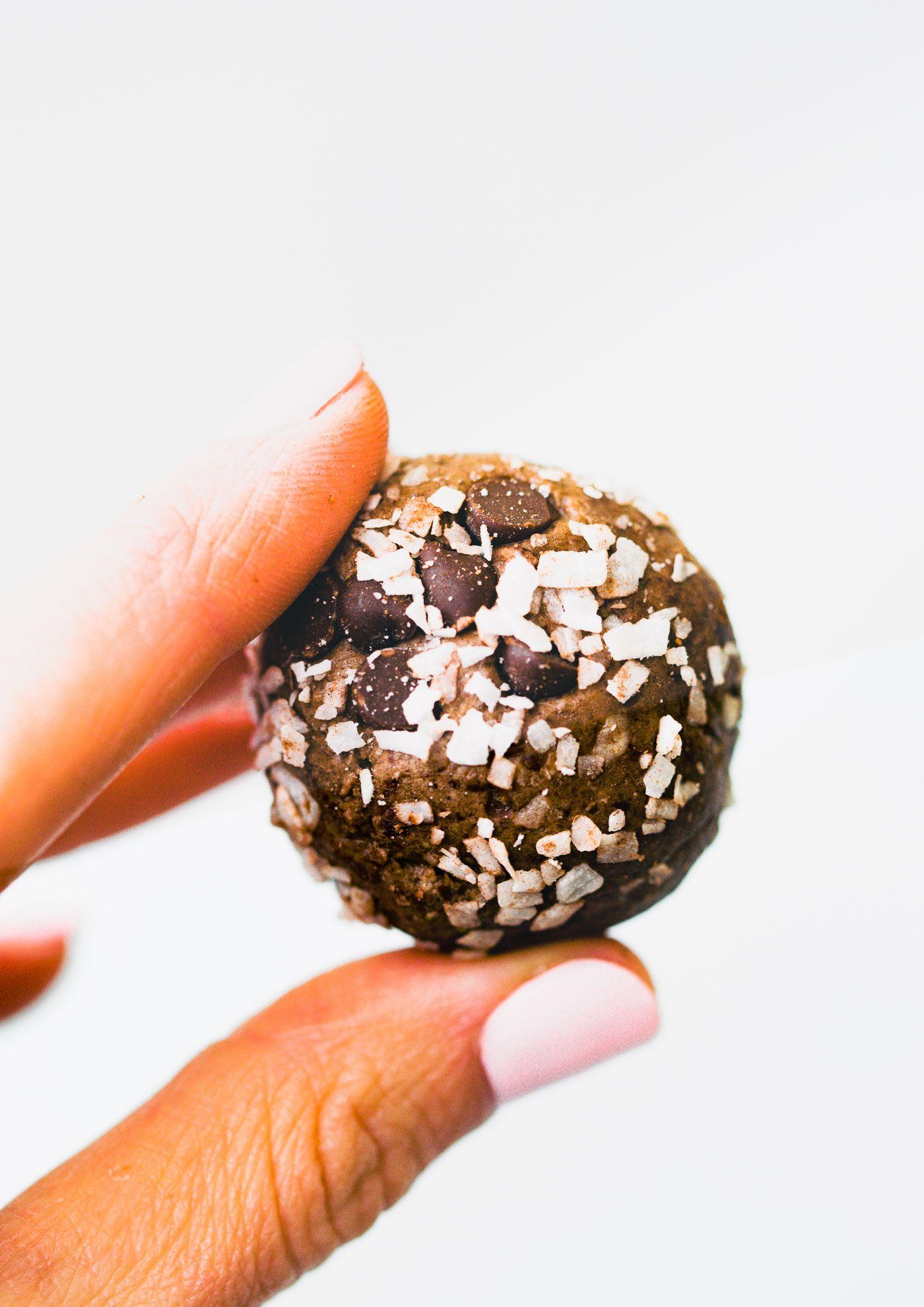 Chocolate Coconut Protein Balls Low Sugar Vegan