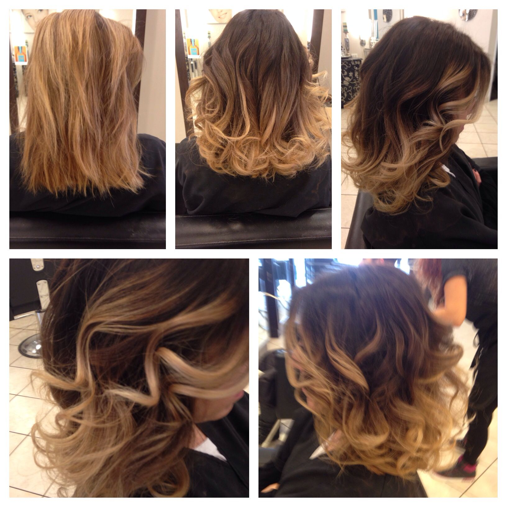 Short caramel ombre with some soft waves
