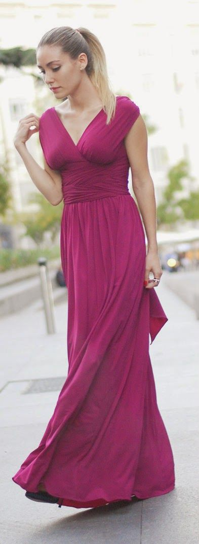 Daily New Fashion : Tyrian purple Long Maxi Dress by Personal Style ...