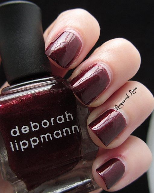 Bitch's Brew from Deborah Lippmann. An awsome darker red with a hint of iridescence.