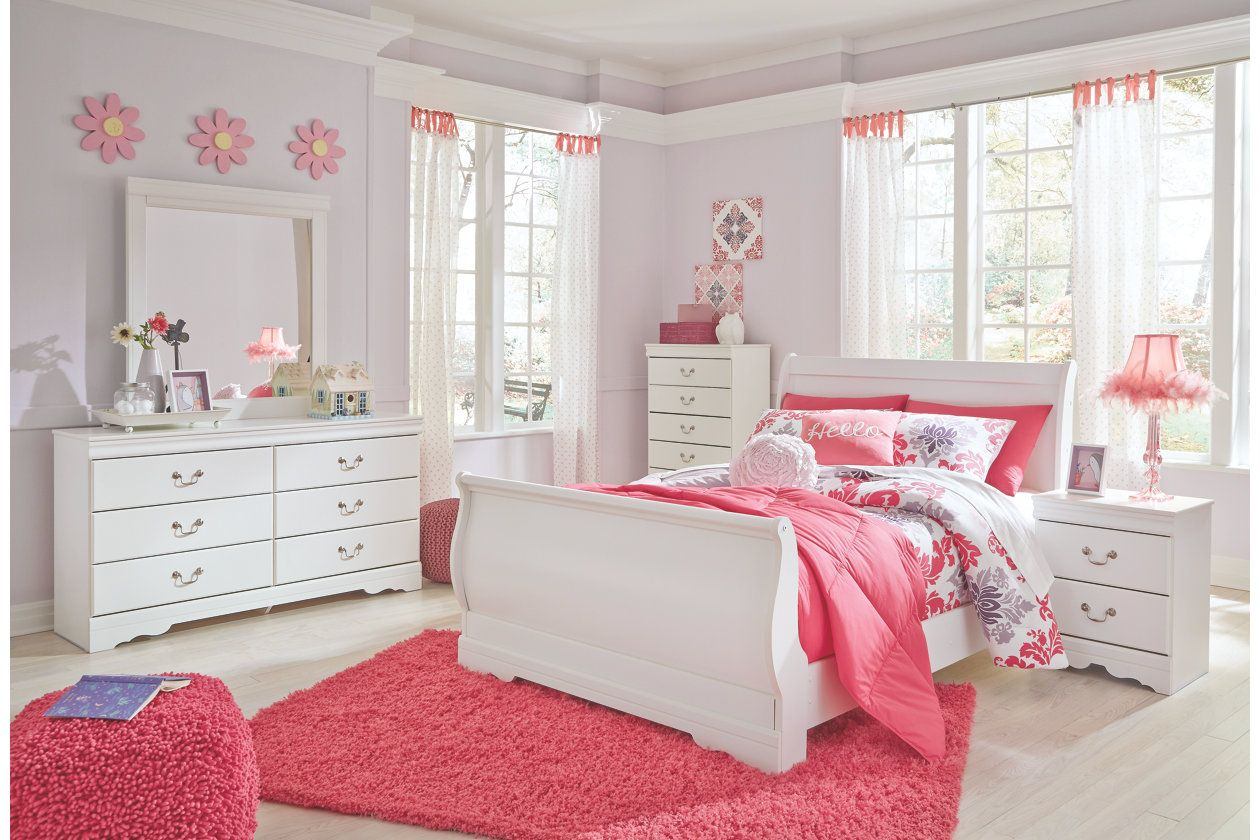 Anarasia Queen Sleigh Bed | Tween girl bedroom in 2019 ...