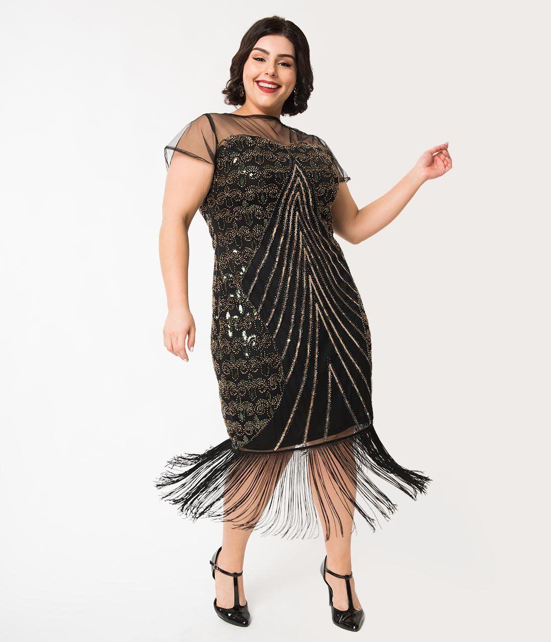 1920s Plus Size Flapper Dresses Gatsby Dresses Flapper Costumes Plus Size Flapper Dress Plus Size Dresses Dresses [ 1275 x 1095 Pixel ]