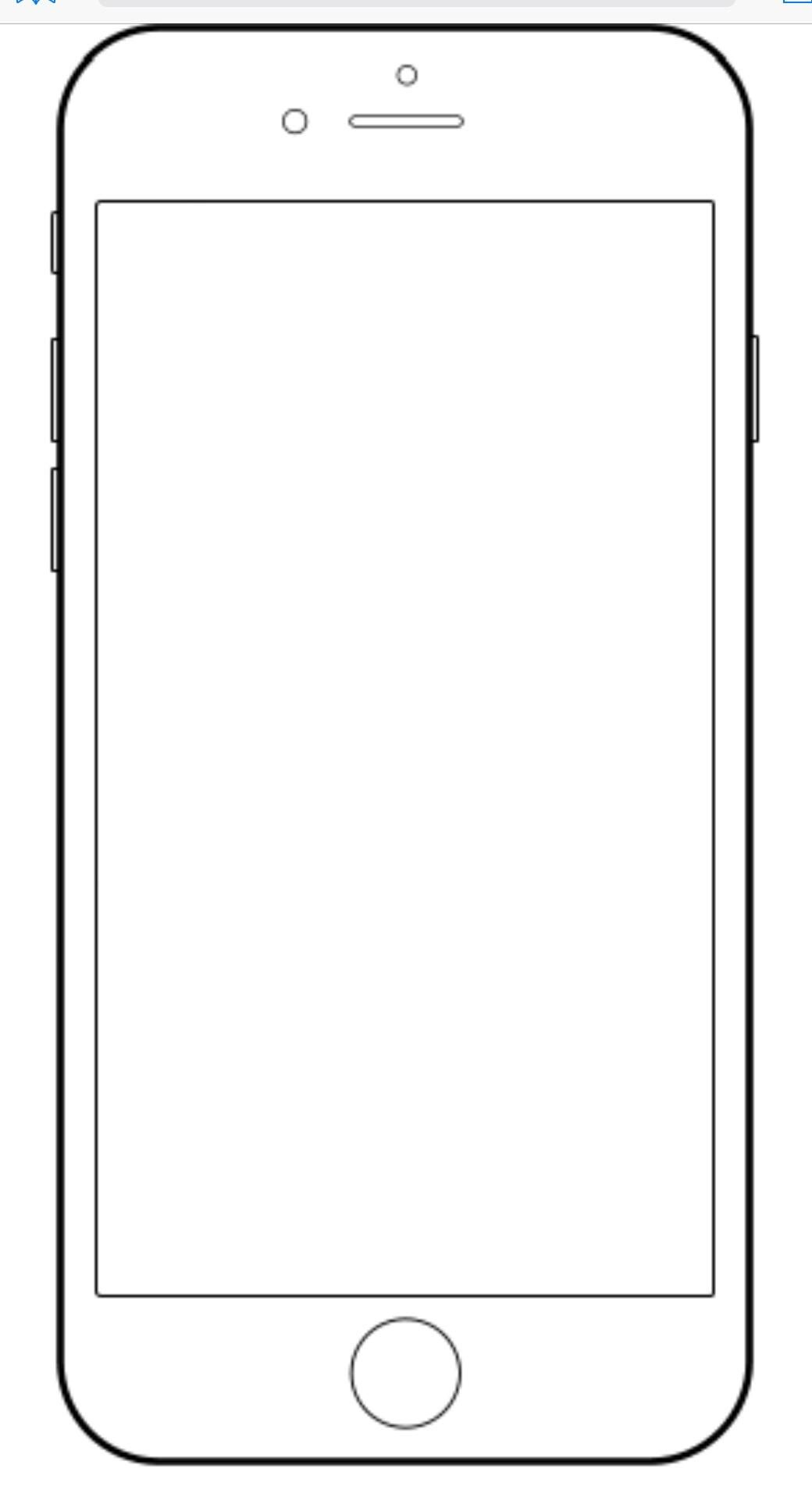 18 Coloring Page I Phone Templates Teaching Coloring Pages