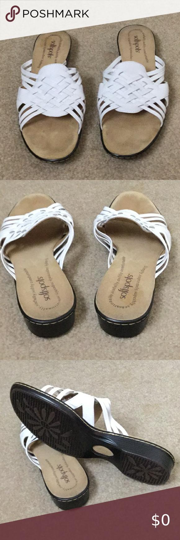 Soft Spots women's white sandals. 8.5