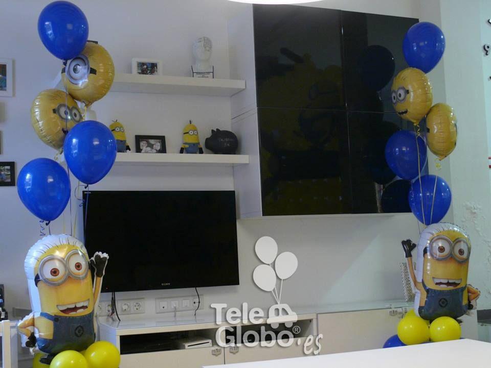Decoraci n con globos para cumplea os con minions - Decoracion con globos para cumpleanos ...