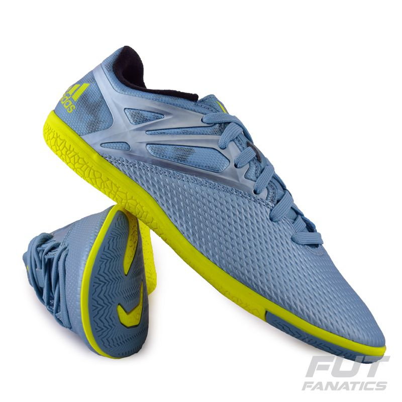 e4f6c3217ec6b Chuteira Adidas Messi 15.3 IN Futsal Azul Somente na FutFanatics você compra  agora Chuteira Adidas Messi