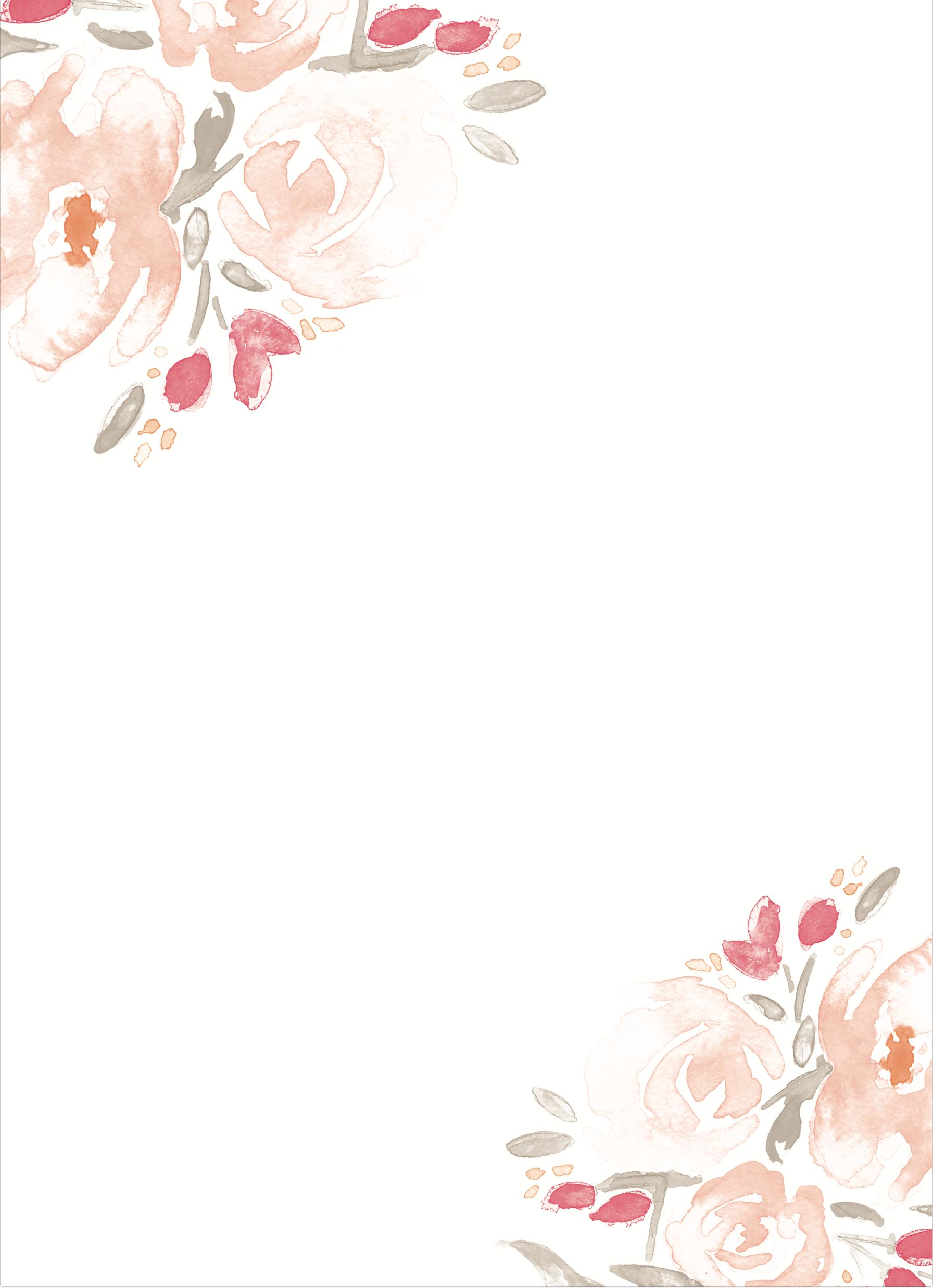 watercolor bouquet wedding invitations  watercolor
