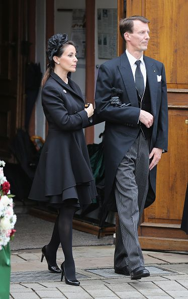 princess marie and her husband prince joachim of denmark leave the funeral service for the. Black Bedroom Furniture Sets. Home Design Ideas