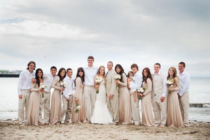 beige and brown wedding - photo #41