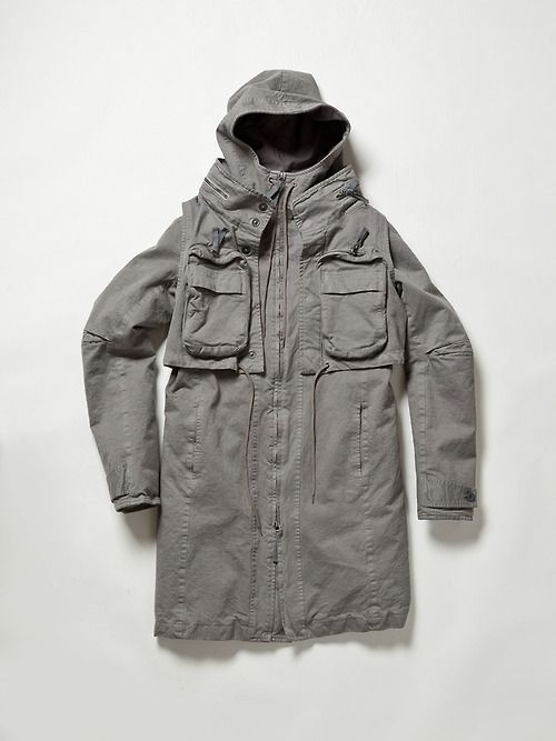 The Viridi-Anne High Density Cotton Military Coat