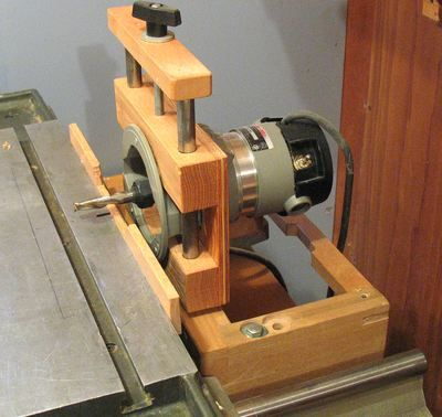 Home made mortising machine precision saw jig for Home built router