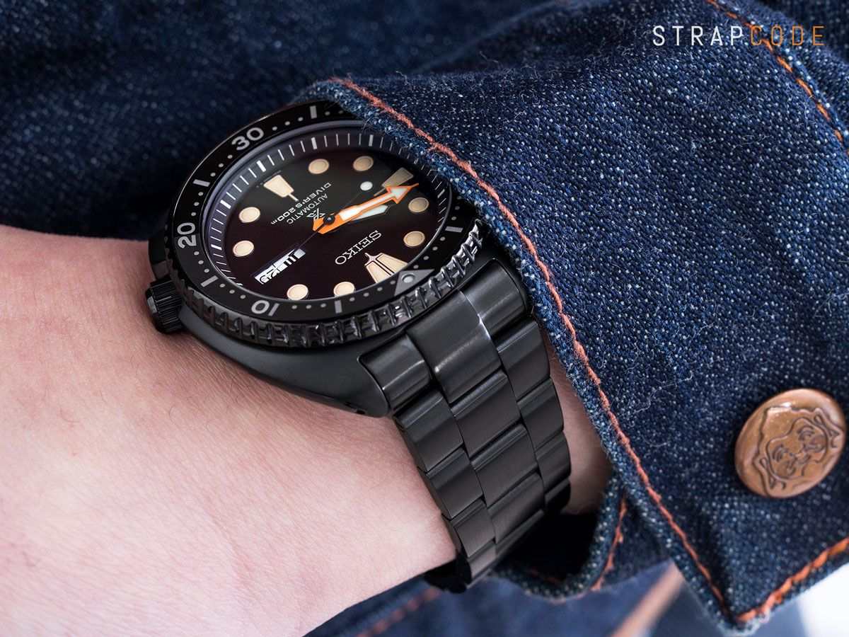 abc760ce6c28  MiLTAT PVD Black Super 3D Oyster for Seiko New Turtles SRPC49 is available  now at www.strapcode.com  strapcode  Iwantstrapcode