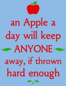 Gonna Start Carrying Around A Basket Full Of Apples Quotes Haha Funny Facebook Humor