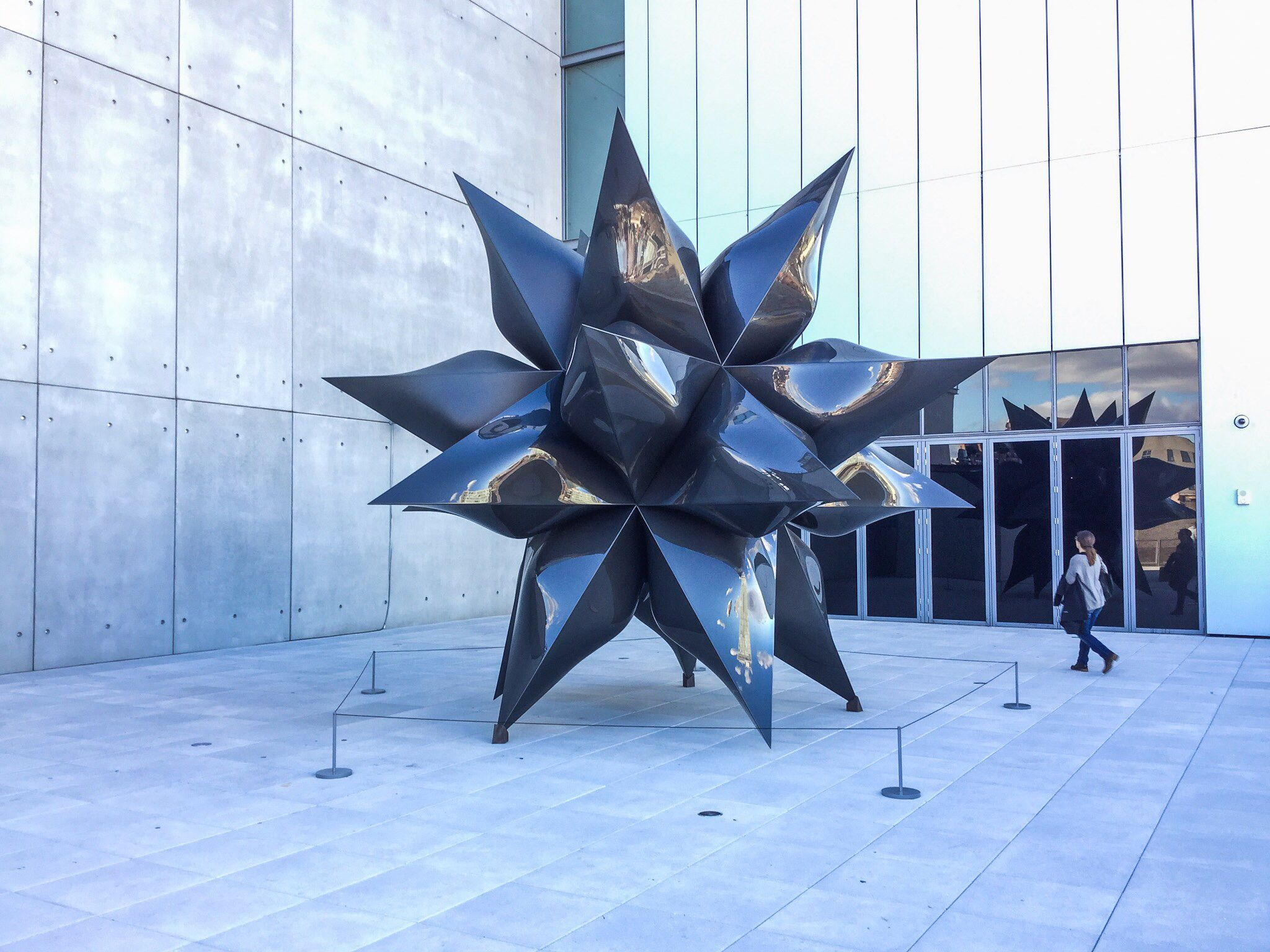 Frank Stella at the new Whitney Museum of American Art in NYC.  Photo: Mark A. Perry