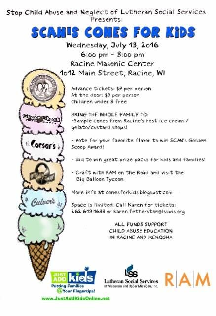 Here's the Facebook Event page with amazing updates. RSVP. Invite your friends. Share the event.  Thank you! Stop Child Abuse and Neglect- SCAN's #ConesforKids #Fundraiser #IceCream #StopChildAbuse