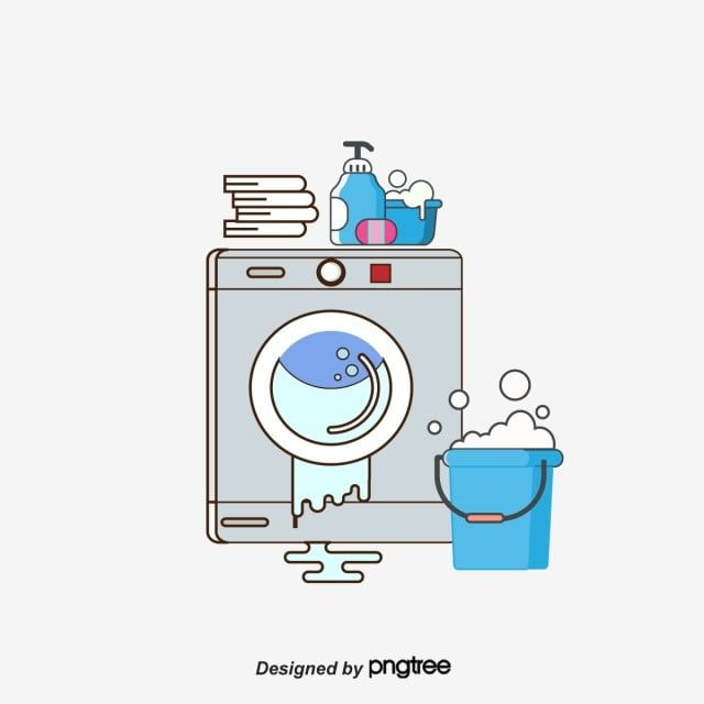 Vector Cartoon Washing Machine Laundry Washing Machine Clipart Vector Cartoon Png And Vector With Transparent Background For Free Download Pink Washing Laundry Room Art Cleaning Logo