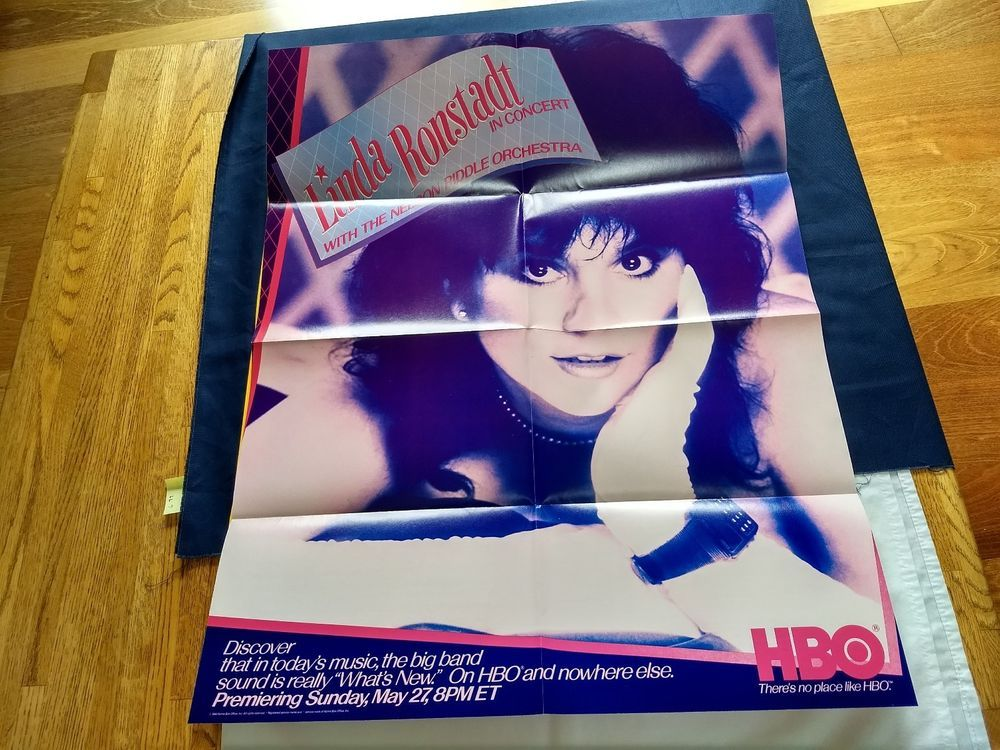 Linda Ronstadt Nelson Riddle Concert Original Poster HBO
