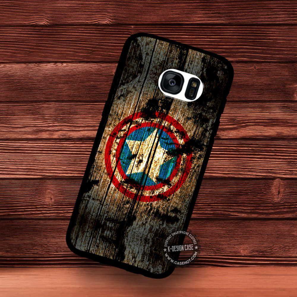 Captain America Wood Texture Symbols The Avengers Movie Samsung