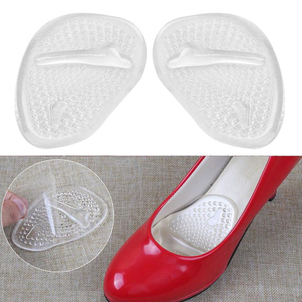 1pair High Heel Transparent Silicone Gel Shoes Anti Slip Insoles Front Pad Cushi Fashion Clothing Shoes Acce Cushioned Shoes High Heel Inserts Shoe Insoles