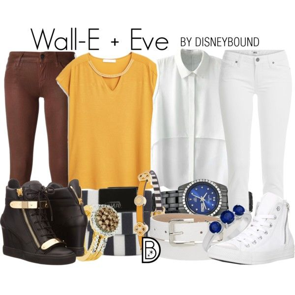 Wall-E + Eve by leslieakay on Polyvore featuring mode, MANGO, Paige Denim, Koral, Giuseppe Zanotti, Converse, Vans, Sartego, Henri Bendel and Allurez