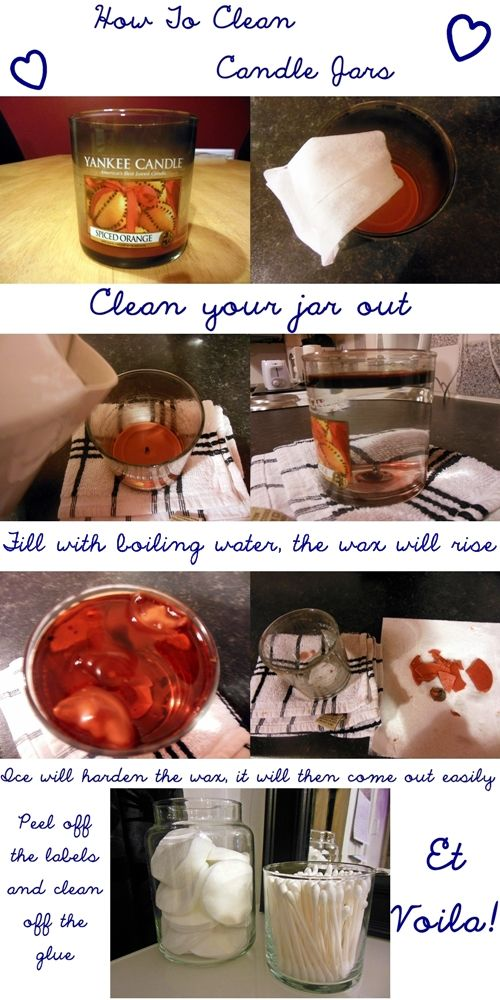 how to clean out old candles