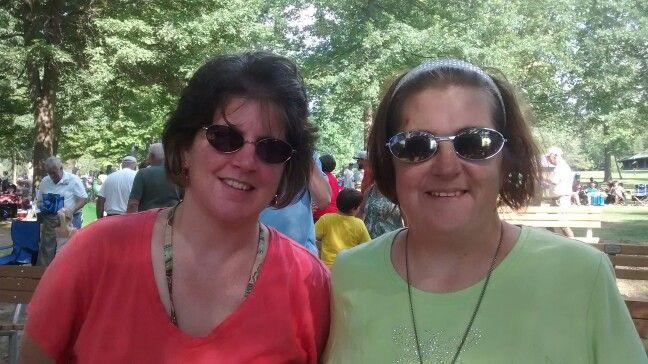 Christine and Lori @ Buhl Park summer concert 2015