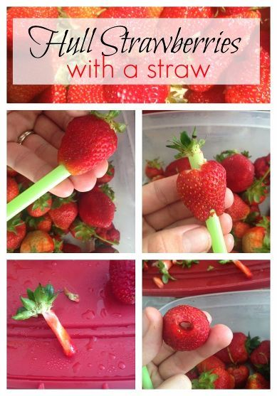 Hull Strawberries With a Straw...fast, Easy, and No Waste! Fyld op med chokolade bagefter?