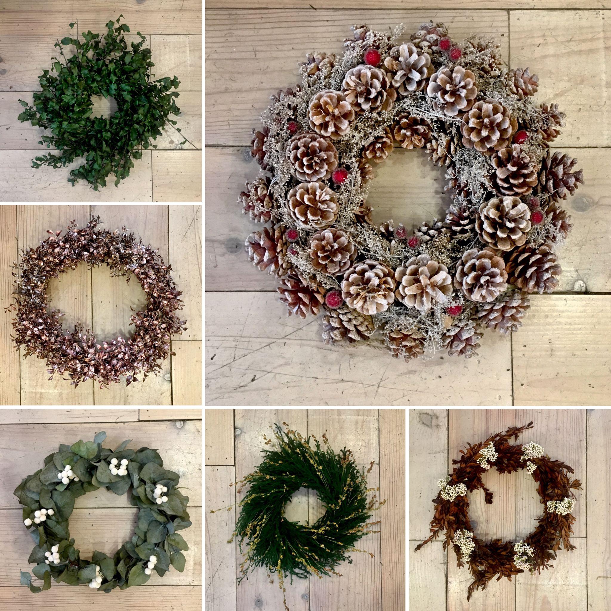 coronas de navidad hechas a mano con flores y frutos On coronas de navidad hechas a mano
