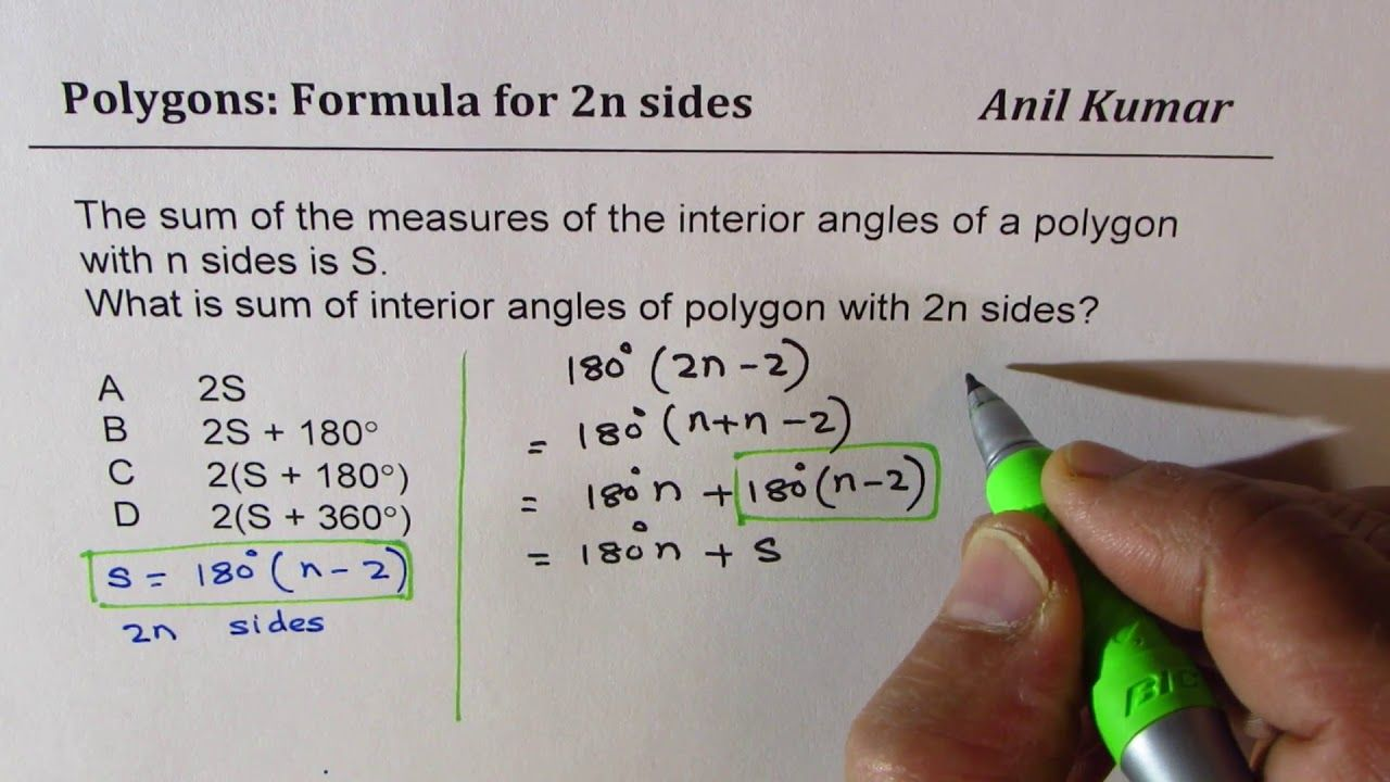 Awesome Sum Of Interior Angles A Polygon Calculator And Review