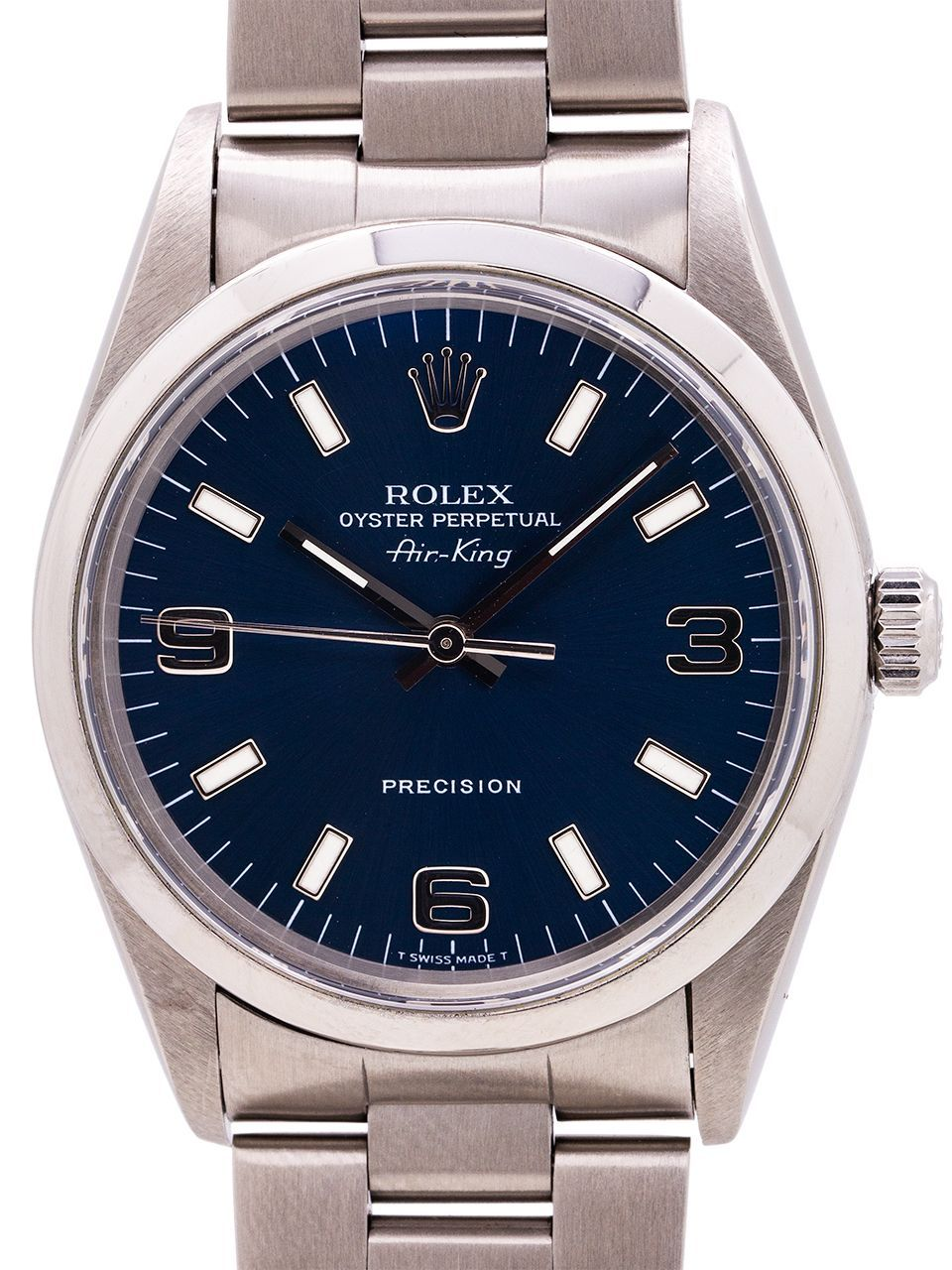Rolex Airking ref 14000 Blue Explorer Dial circa 1997
