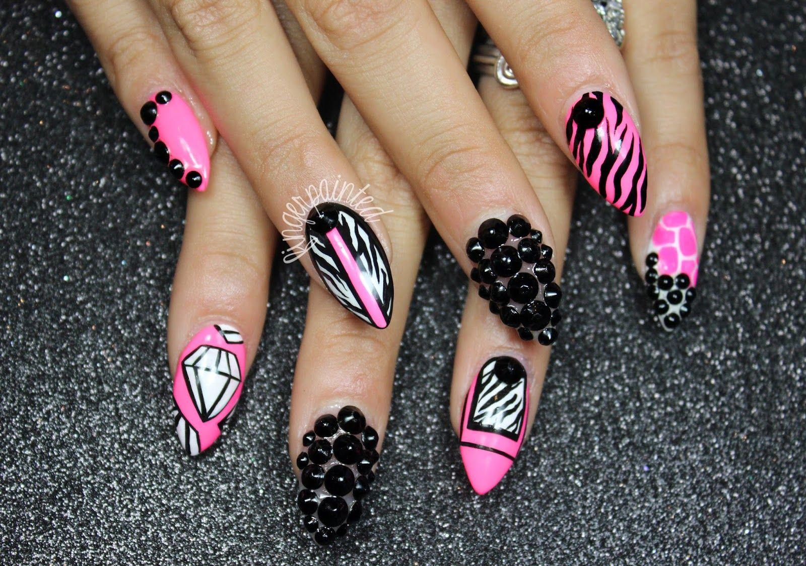 stiletto nail design 2014 general-fashionable-stiletto