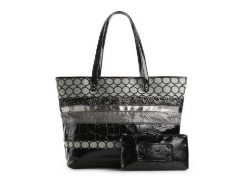 Nine West If The Tote Fits Glitter Mixed Shopper Tote