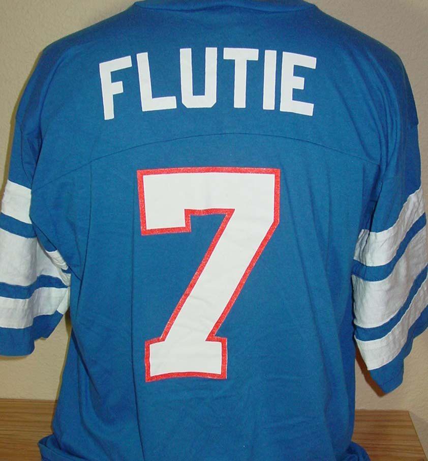 Vintage 1980s doug flutie buffalo bills football jersey t for Buffalo bills t shirt jersey