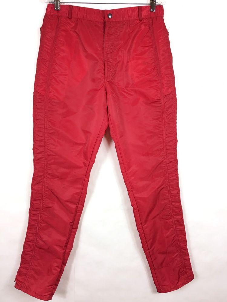 37b68faac Parachute Pants Vintage 80's Bugle Boy Men's Size 33 Long Red Zippers  Countdown #BugleBoy #CargoStraightLeg #Casual