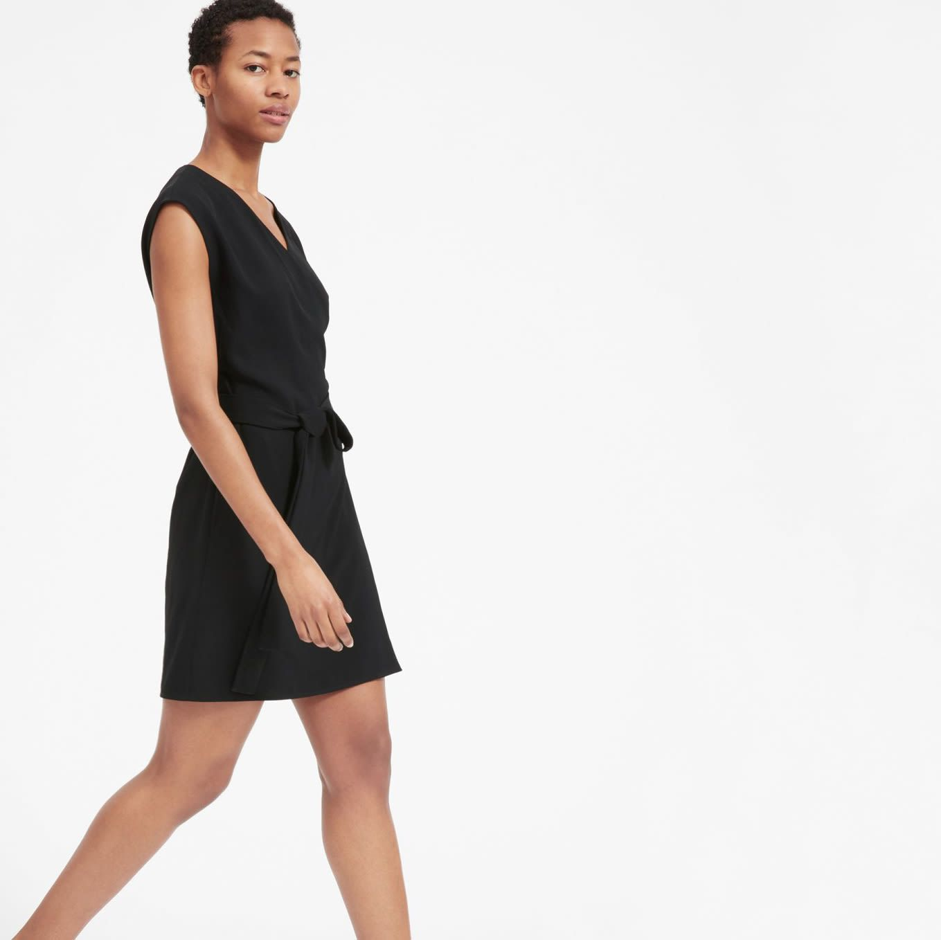 All Wrapped Up A Flattering V Neckline Tie Waist And Versatile Above The Knee Length Make This A Classic Plus Mini Wrap Dress Black Wrap Dress Wrap Dress [ 1358 x 1359 Pixel ]