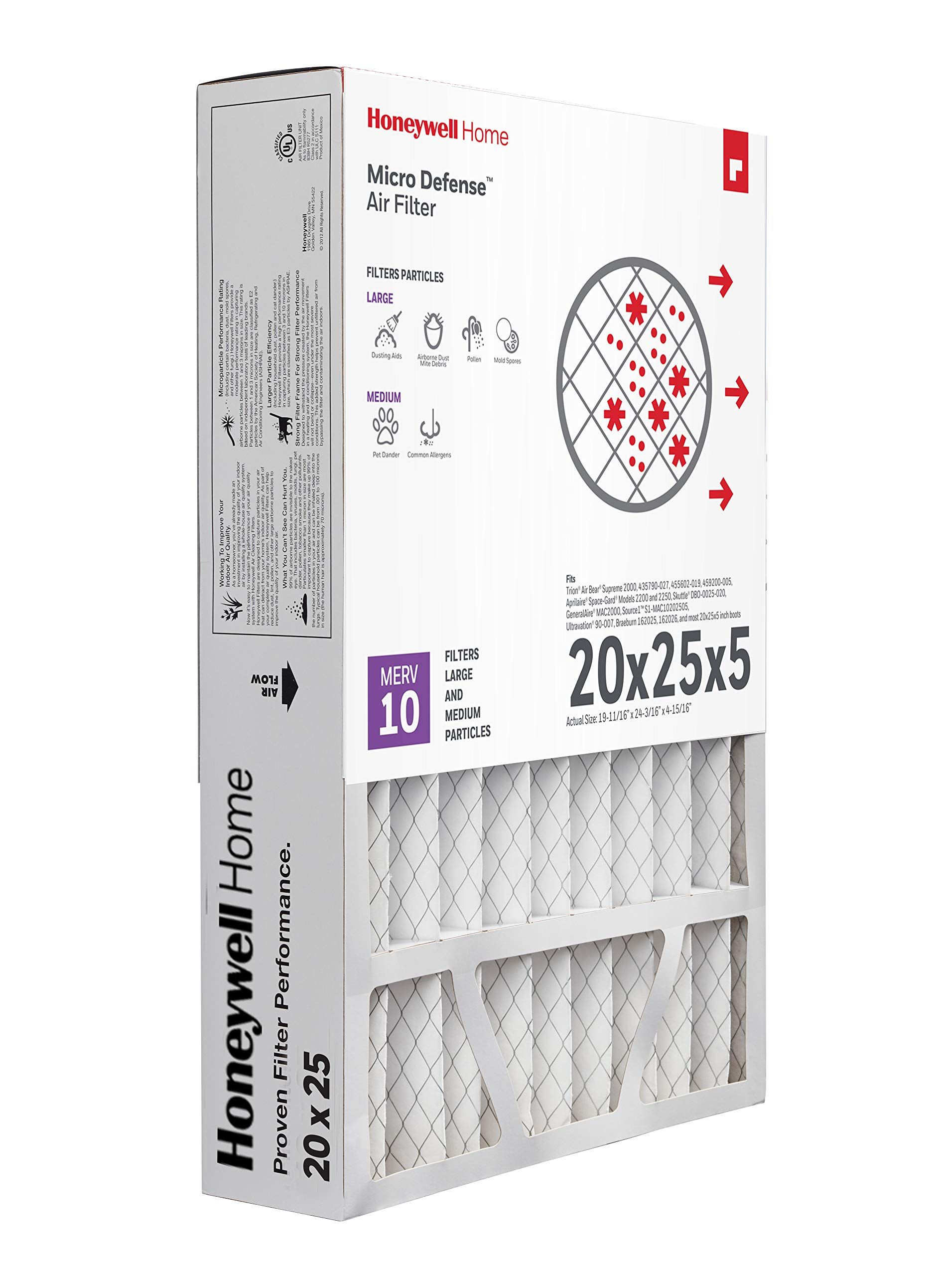 Microdefense By Honeywell Cf508a2025 Honeywell Home Microdefense Ac Furnace Air Filter 20x25x5 Merv 10 1pk Find Air Filter Ac Furnace Air Filter Lights